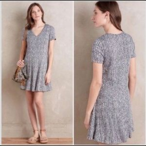 Anthropologie Dolan Gray Ribbed Flare Dress